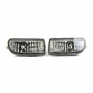 Pair Front Fog Light For Toyota Land Cruiser Fj100 1998 2007 Bumper Lamp W Bulb