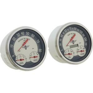 Stewart Warner 82258 Nostalgic 3 in 1 Gauge Kit Speedometer tach