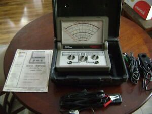 Vintage Sears Craftsman Diagnostic Analyzer Vintage Case With Cables