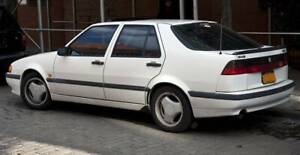 Saab 9000 Aero Rocker Sill Panels White And Rear Spoiler 2 Color