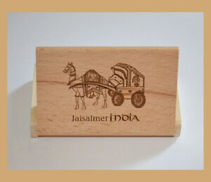 Teak Wood Engraved Business Card Holder Visiting Card Case From India