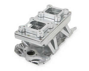 Sniper Sheet Metal Fabricated Intake Manifold Small Block Chevy Durable Silver