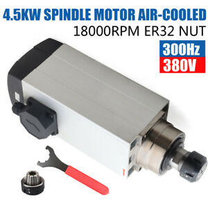 4 5kw 380v 9 5a Air Cooled Spindle Motor Er32 300hz 18000rpm F cnc Router Machin