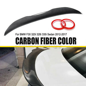 Carbon Fiber Color Trunk Boot Spoiler Wing Mps Style For Bmw 3 Series F30 F80