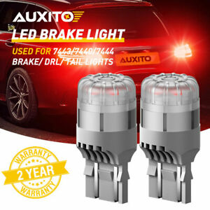 Auxito 7443 7444 Red Led Bulb Brake Tail Stop Parking Light 7440 T20 Bright Lamp