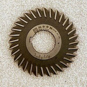 Moon Straight Tooth Slitting Saw 3 X 1 8 X 1 Milling Cutter G03 Usa Metal