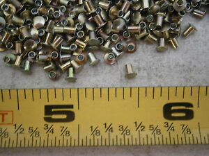 Tubular Rivets Oval Head Military Spec Ms 16535 1 061 Od Steel Lot Of 75 0123