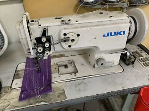 Juki Lu 1560n Double Needle Walking Foot Lock stitch Sewing Machine Used