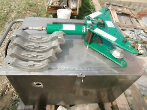 Greenlee 880 Conduit Bender 975 Electric Pump 1 To 2 1 2 Heavy Wall Shoes