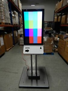 Self Service Vertical Retail Kiosk Enclosure With 2x 32 Touchscreen Lcd Monitor
