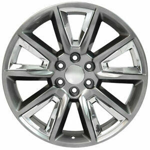 Replacement Wheel 22x9 Hyper Black And Chrome Chevytruck Tahoe Cv73b 22