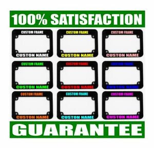 Motorcycle Custom Tag Holder Frames Personalized License Plate Frame