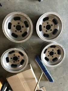 14 Gm Aluminum Slot Wheels Nova Chevelle Impala