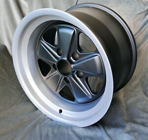 2 Maxilite Fuchs Style Wheels F Porsche 911 10x17 Black Diamond Cut Lip W Tv
