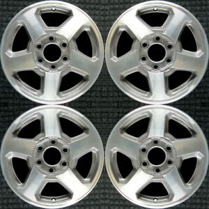 Chevrolet Trailblazer Machined W Charcoal Pockets 16 Oem Wheel Set 2002 To 2