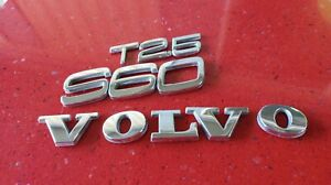 01 02 03 04 05 06 Volvo S60 2 5 T Rear Lid Chrome Emblem Logo Badge Nameplate