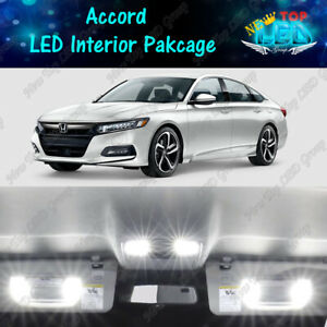 White Led Bulbs Interior Package Kit Reverse For 2013 2019 2020 Honda Accord
