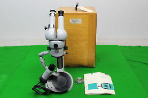 Carl Zeiss Stereomicroscope I W Lockable Wooden Case Original Manual