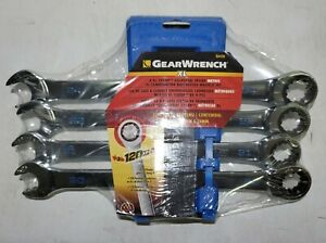 Gearwrench 4pc 120xp Universal Spline Xl Ratcheting Wrenches 20 21 22 24mm 86428