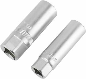 2pc Spark Plug Socket 14 16mm Thin Wall 12 Point Removal Tool 1 2 3 8 Drive