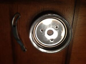 Crankshaft Pulley Double Groove Fits Small Block Chevy Swp 283 327 350 Chrome