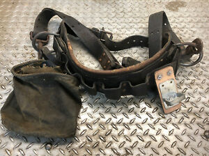 Vintage Lineman Belt Climbing Gear Leather Tree Arborist Klein