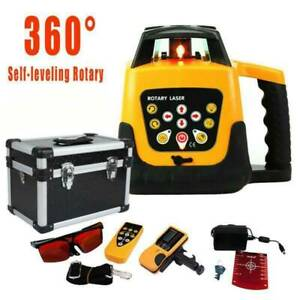 Ridgeyard Self leveling 360 Degree Rotary Rotating Red Laser Level W case