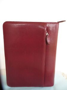 Classic 1 5 Rings Ruby Sim Leather Reptile Franklin Covey Zip Planner binder