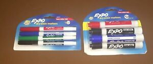 2 Unopened Packs Expo Low Odor Dry Erase Markers 6 Thick 4 Thin 4 Color