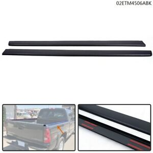 Truck Bed Cap Molding Rail Cover Fit For 99 07 Silverado Sierra 6 5ft Bed Black