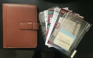 Vintage 7 Ring Day timer Planner W Organizer Inserts Undated Calendar Pages
