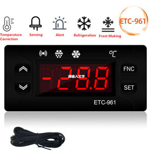 Etc 961 Digital Thermostat Temperature Controller Incubator Aquarium Cold Alarm