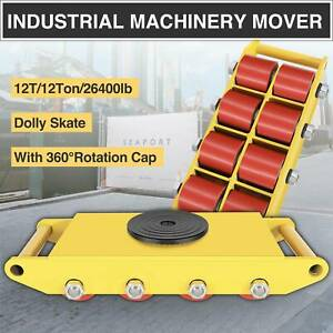 12t Industrial Machinery Mover W Skate Roller 360 rotation Dolly Skate Trolley