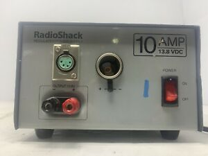 Radio Shack 10a 13 8v Regulated Linear Power Supply Cat No 22 506 Mw2