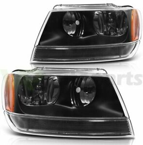 For 1999 2004 Jeep Grand Cherokee Front Left Right Sides Headlamp Assembly