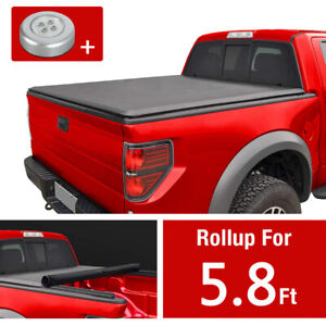 5 8ft Bed Roll Up Tonneau Cover For Chevy Silverado 2007 2013 Gmc Sierra