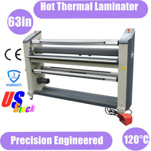 Us Stock 110v Precision Engineered 63in Wide Hot Thermal Laminator Laminating