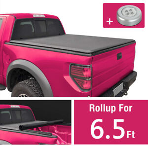 6 5ft Bed Roll Up Tonneau Cover For Chevy Silverado 2007 2013 Gmc Sierra