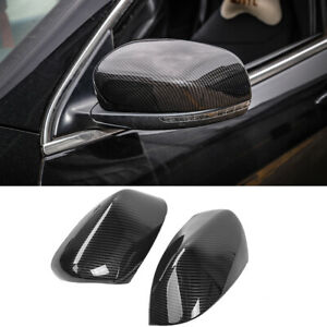 For 2014 19 Jeep Compass Carbon Fiber Look Rearview Side Mirror Caps Cover Trim