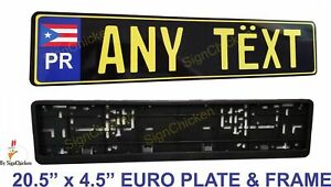 Euro Tag Bmw European License Plate Any Text Puerto Rico Mounting Frame