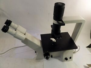 Zeiss Axiovert 25 C Inverted Phase Contrast Microscope With Objectives 115v