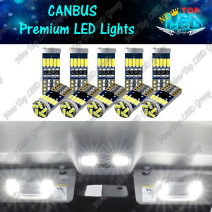 10x Canbus 158 194 168 175 2825 W5w T10 White Led Light Bulbs 6000k Super Bright