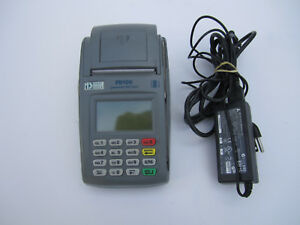 First Data Fd100 Credit Card Terminal With Power Adapter