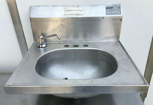 Eagle Stainless Steel Wall Mount Hand Sink 19 X 16 Yhsad 10 0037 Backsplash