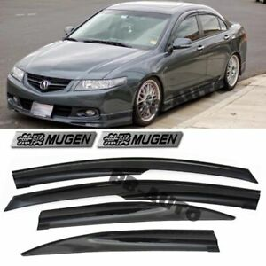 For 04 08 Acura Tsx Cl9 Window Smoke Tinted Side Vent Shade Rain Guards Visors