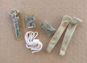 1 6 WWII US accessories knives socks magazine bags medicine bags ropes $10.00