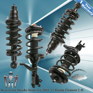 Front Rear Struts Shocks Assembly For 2003 2011 Honda Element Suv A Set Of 4