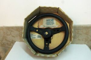 Nos 13 Leather Steering Wheel Audi 80 90 Vw Beetle 1303s Golf Scirocco Derby