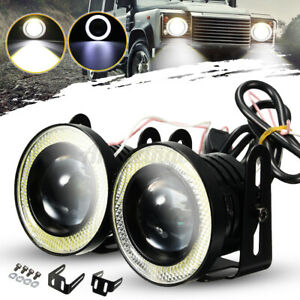 2 5 Inch Car Projector Led Fog Light Cob Halo Angel Eye Ring Bulb White 2 5