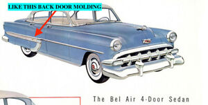 Nos Chevrolet 1954 Bel Air 210 Rear Door Molding Rh 7